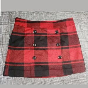 Gap Buffalo Plaid Mini Skirt sz 6